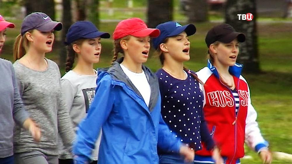 Девушки в Рязанском училище ВДВ