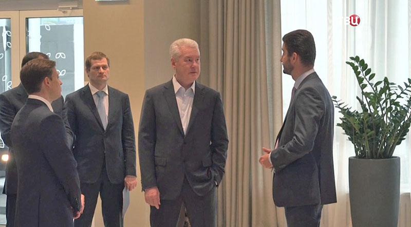 Сергей Собянин осматривает гостиницу Hilton