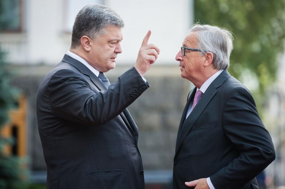 Пётр Порошенко и Жан-Клод Юнкер