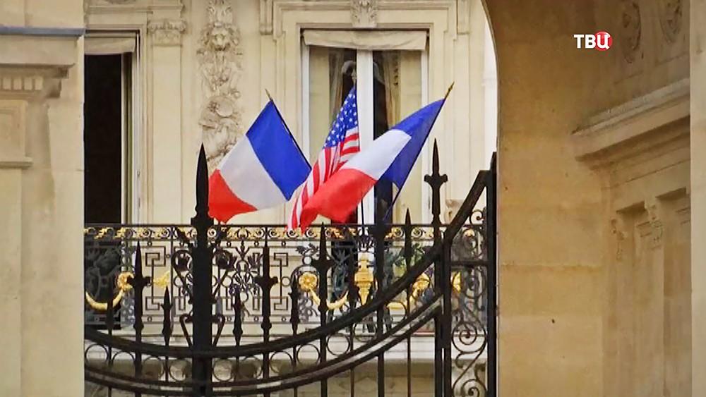 Флаги США и Франции