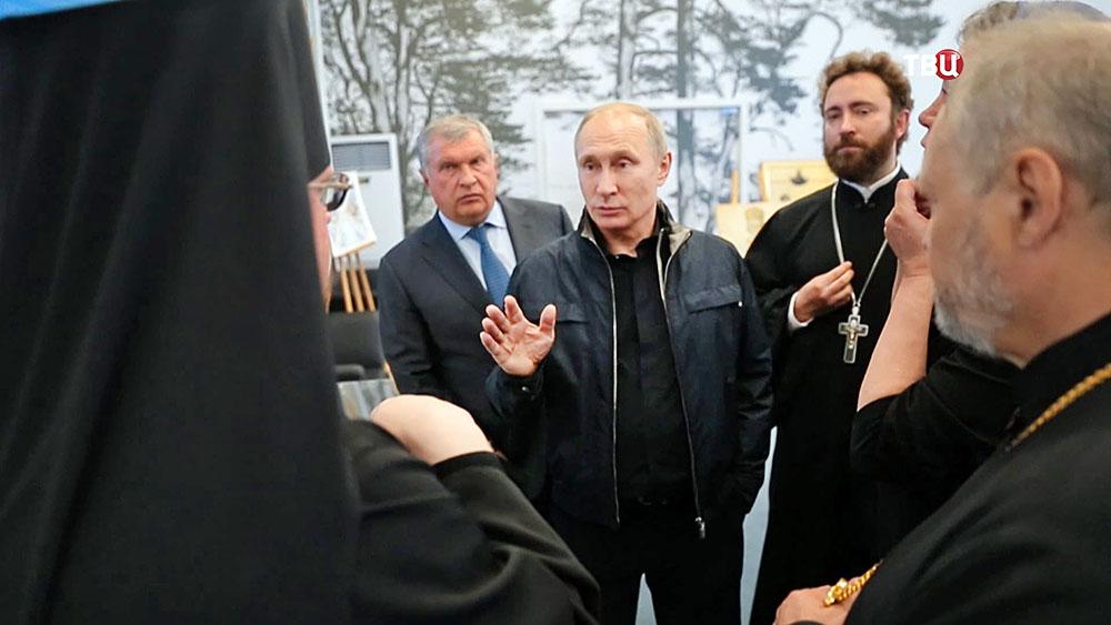 Президент России Владимир Путин на Ладожском озере