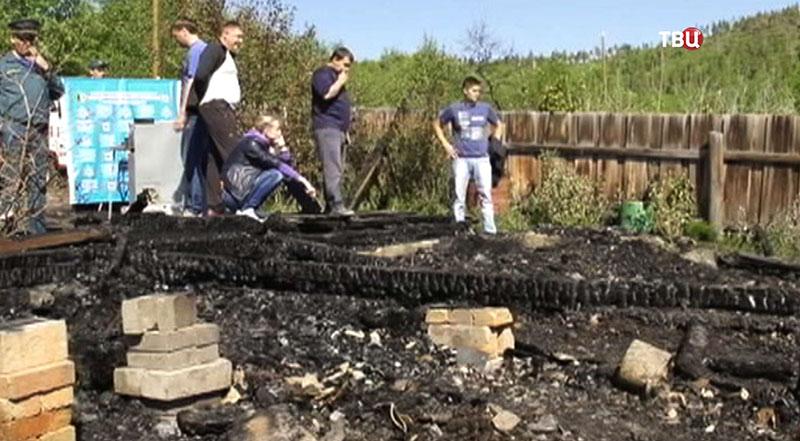 Пожар в Братске