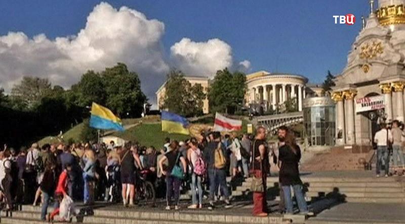 Акция памяти в годовщину убийства Павла Шеремета