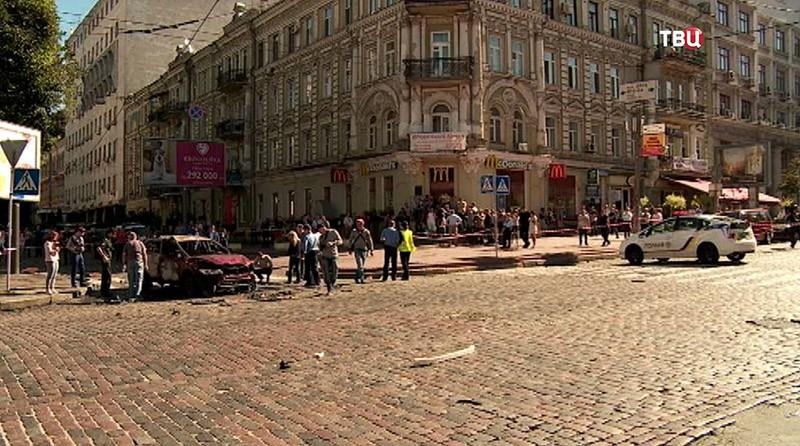 Место убийства Павла Шеремета