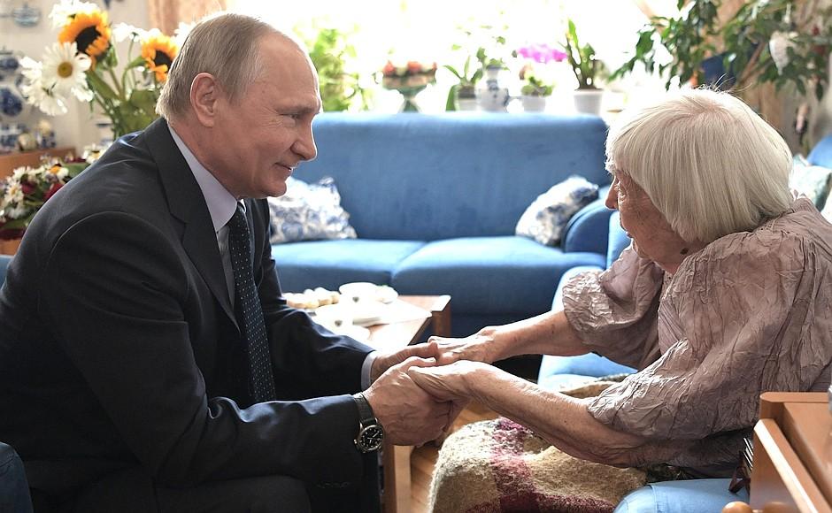 Встреча Владимира Путина с Людмилой Алексеевой
