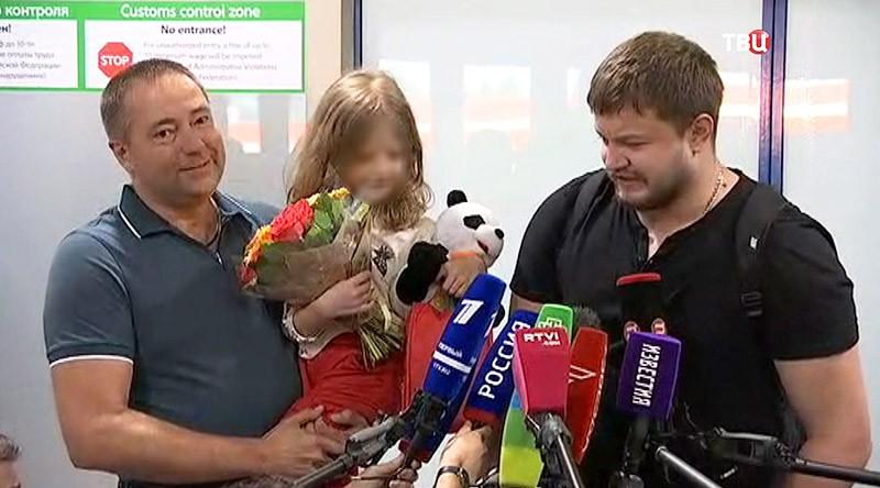 Сергей Уханов и его дочь Лиза в Москве