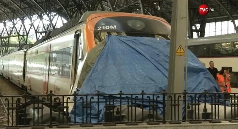 Аварии на железно-дорожной станции в Барселоне