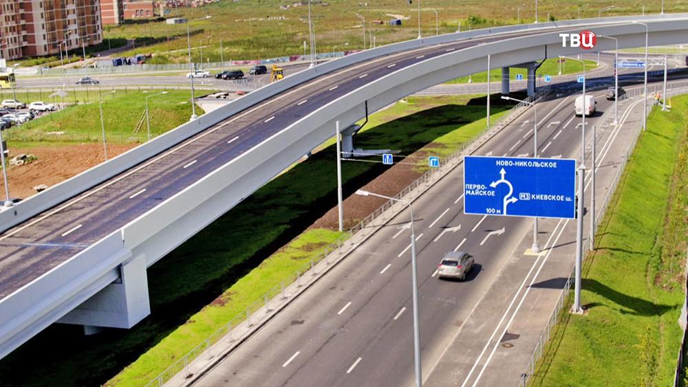 19 За 5 лет в Новой Москве построено свыше 60 км новых дорог