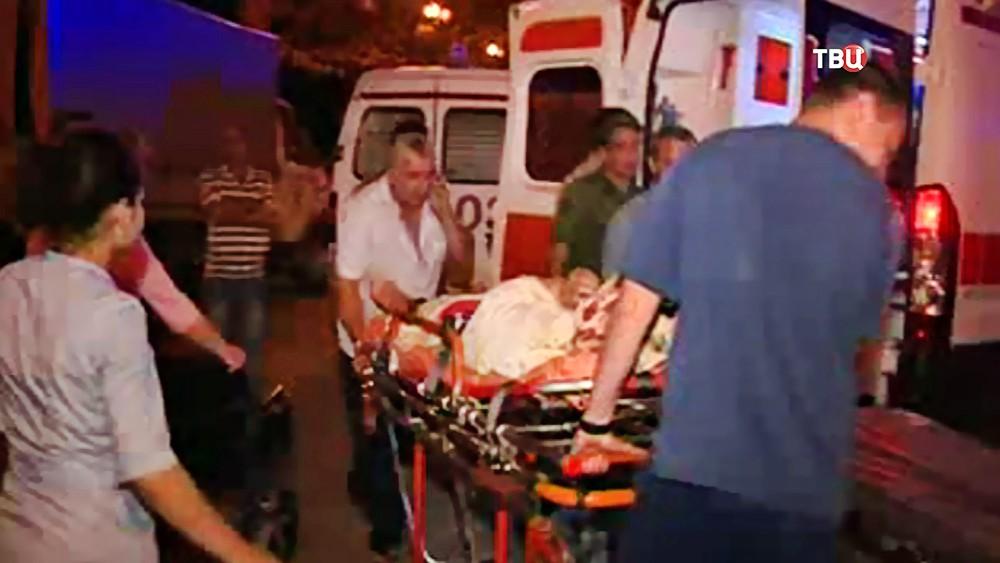 Пострадавшие от взрыва на военном складе в Абхазии