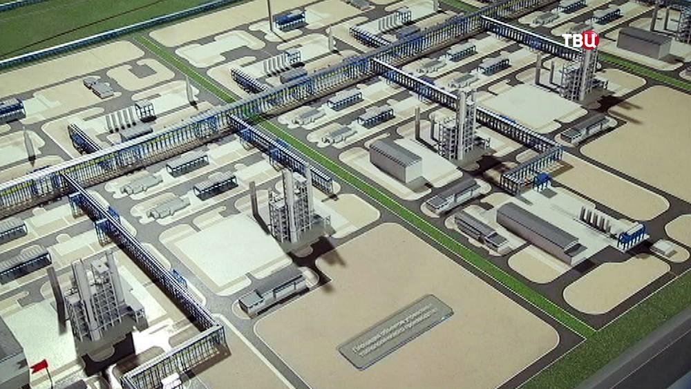 Макет Амурского газоперерабатывающего завода