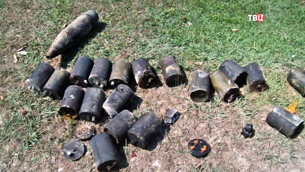 Последствия взрыва на военном складе в Абхазии