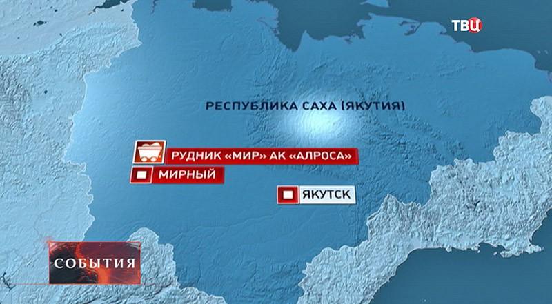 Карта республики Саха