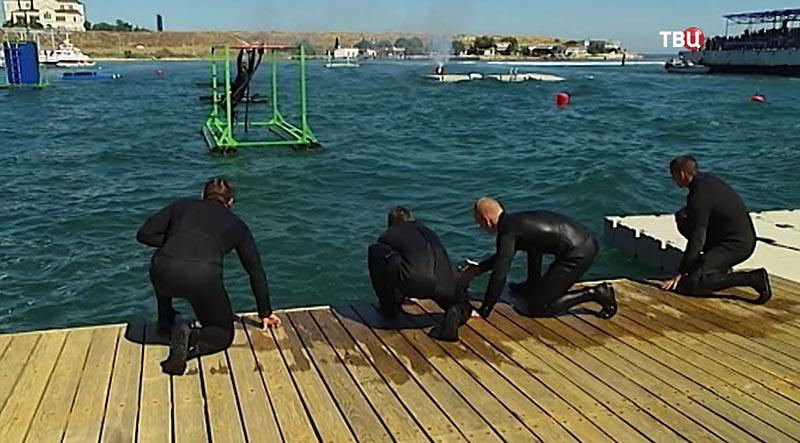 Соревнования водолазов