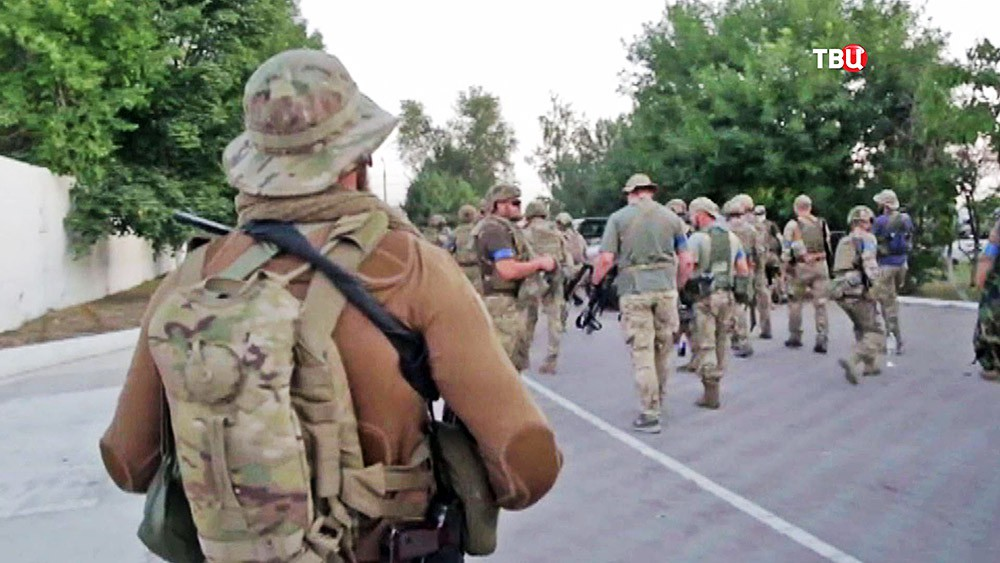 """Бойцы """"Правого сектора"""" в Донбассе"""