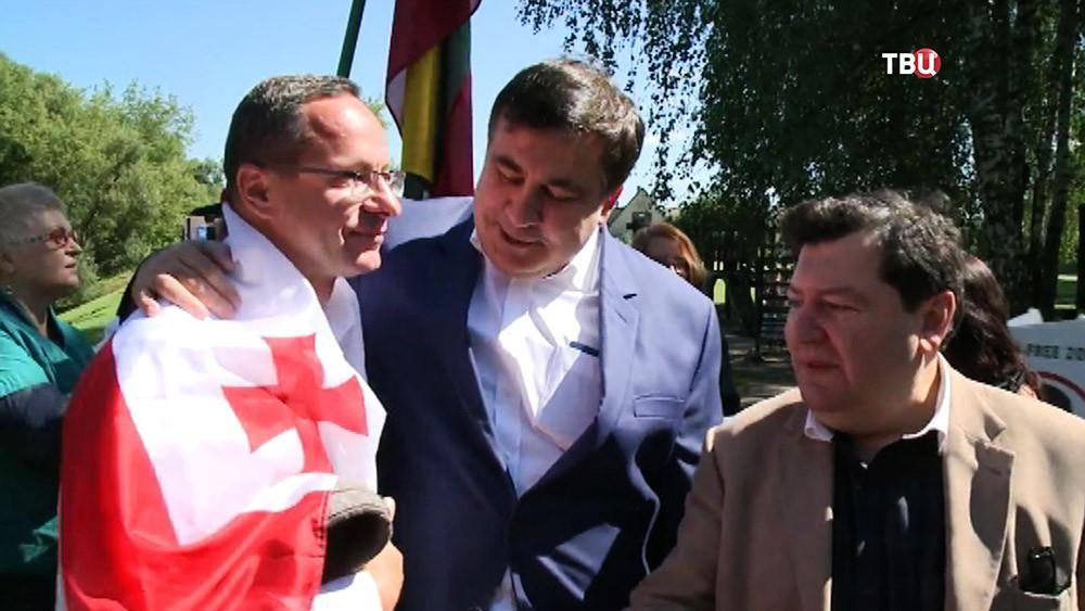 Михаил Саакашвили и его сторонники