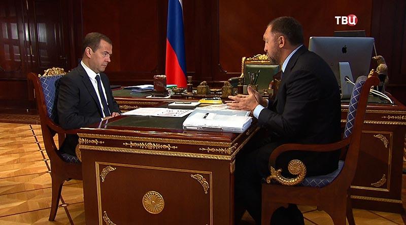 Дмитрий Медведев и Олег Дерипаска