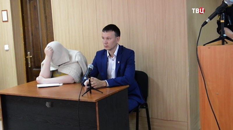 Валерия Старостенко в зале суда