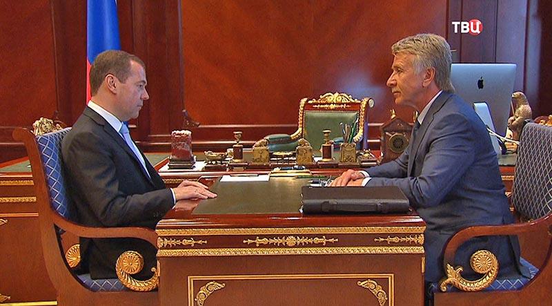 Дмитрий Медведев и Леонид Михельсон