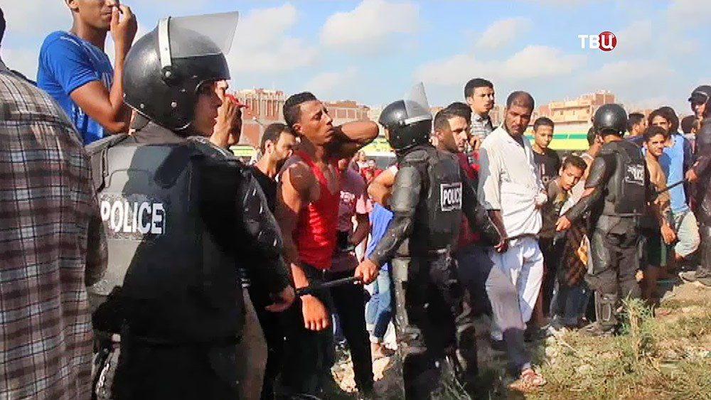 Полиция Египта на месте происшествия