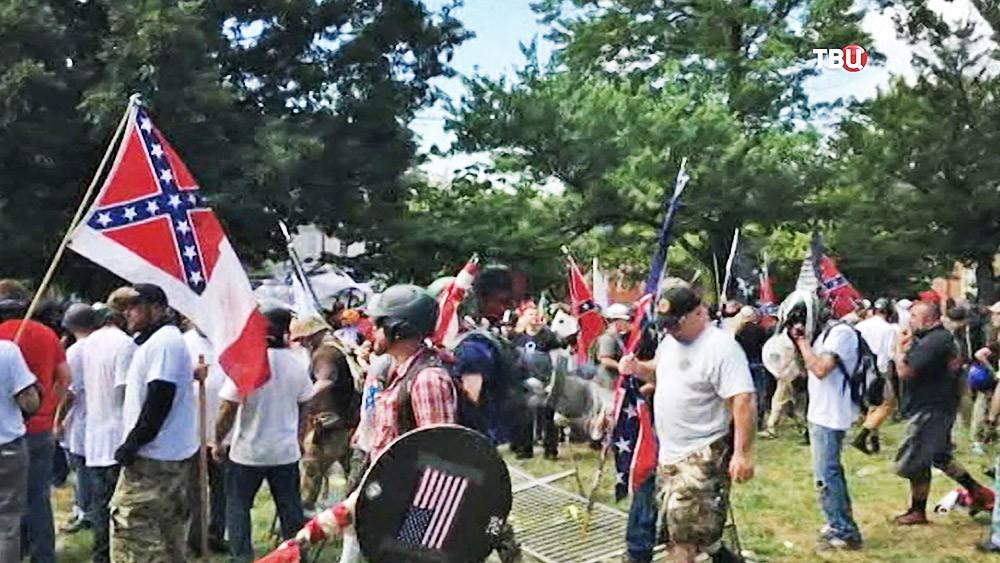 Митинг в Вирджинии, США