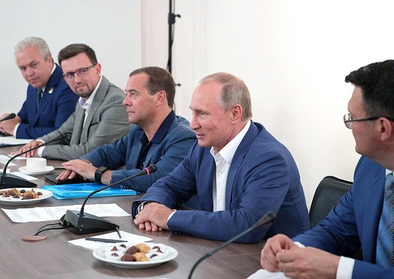 Рабочая поездка Владимира Путина и Дмитрия Медведева в Севастополь