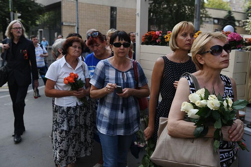 На церемонии прощания с актрисой Верой Глаголевой