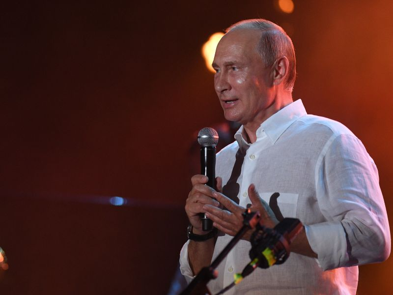 Владимир Путин посетил джазовый фестиваль в Коктебеле