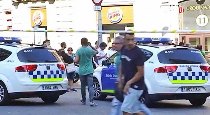 Полиция Испании на месте происшествия