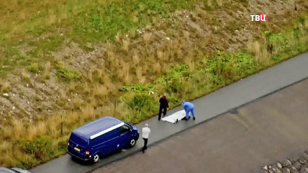 Полиция Дании на месте обнаружения тела журналистке Ким Валль