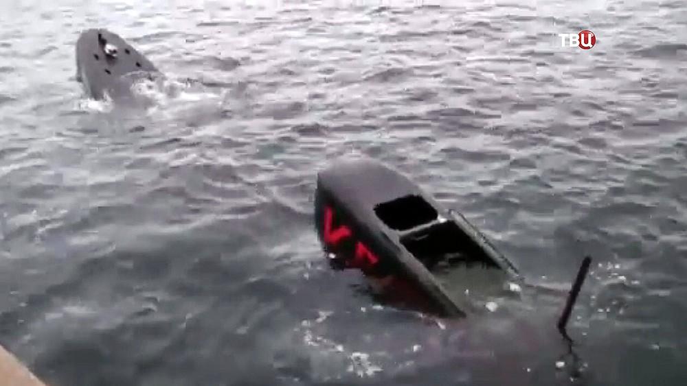 """Тонущая подлодка """"Наутилус"""", на которой плавала журналистка Ким Валль"""