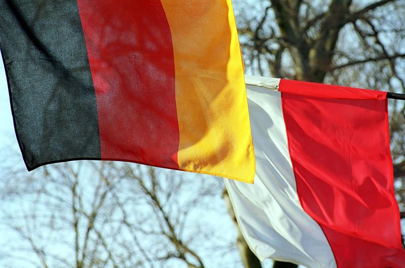 Флаги Польши и Германии