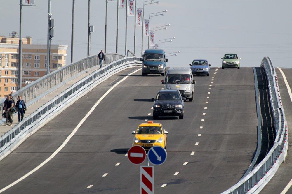 Открытие эстакады через Павелецкое направление МЖД на юге Москвы