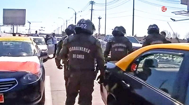 Забастовка против Uber в Чили