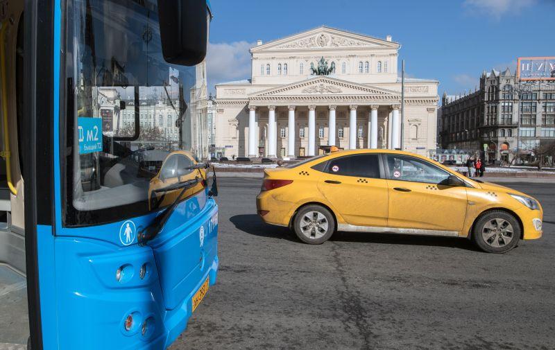 Выделенная полоса в центре Москвы