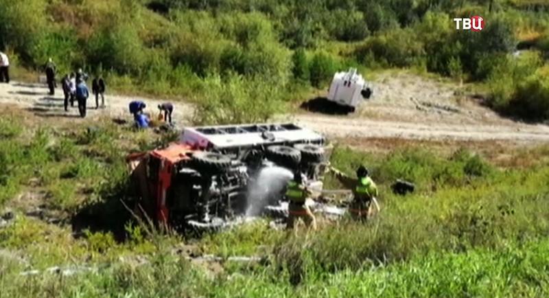 ВАмурской области всерьезном ДТП пострадали 17 человек