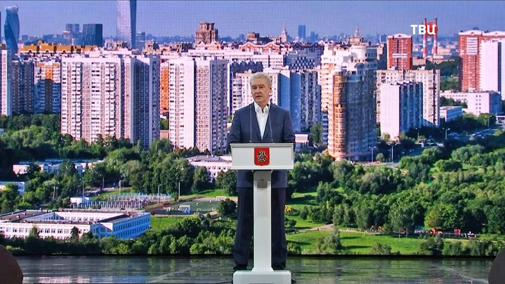 Сергей Собянин выступает
