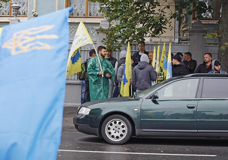 Митинг автомобилистов на Украине