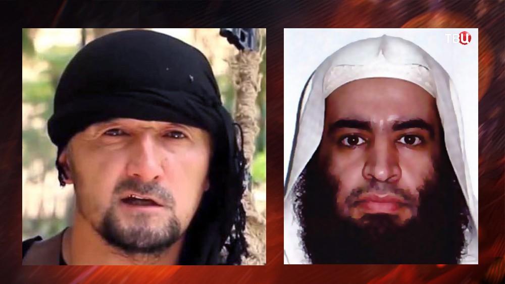 Ликвидированные террористы группировки ИГИЛ Гулмурод Халимов и Абу Мухаммад Аш-Шимали