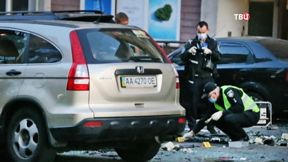 Криминалисты Украины на месте взрыва