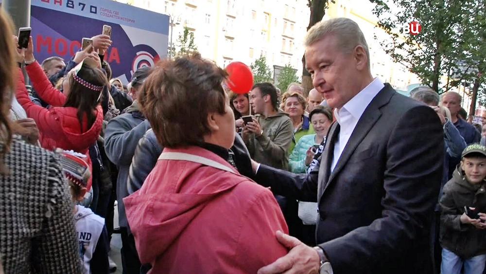 Сергей Собянин и жители города