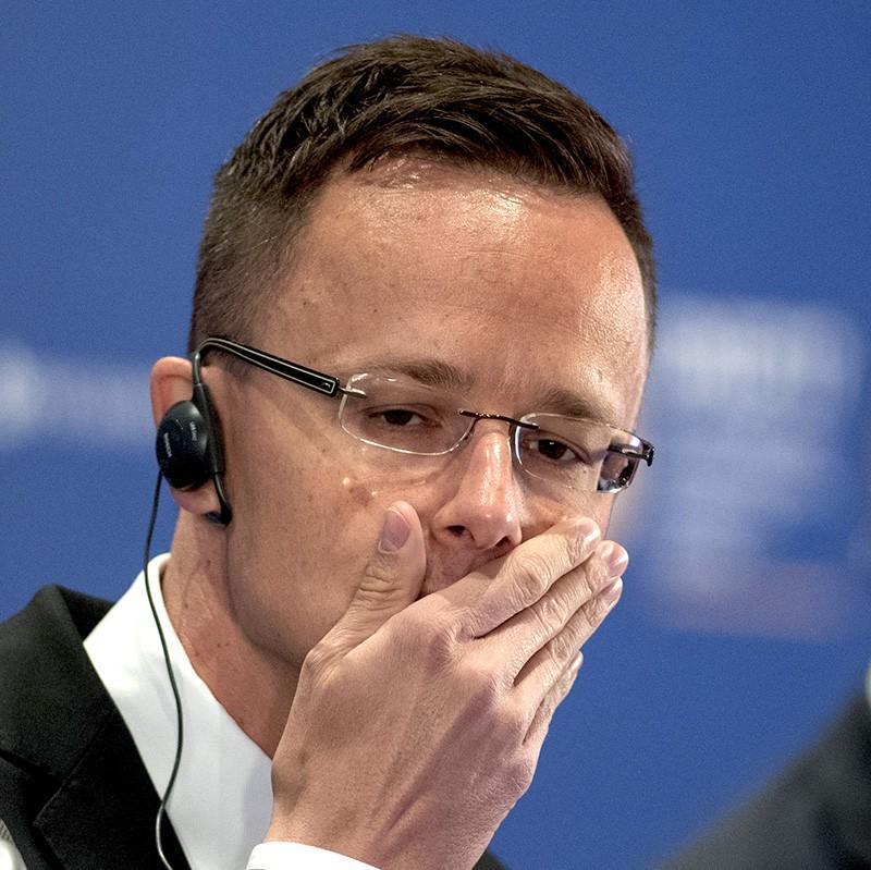 Министр внешних экономических связей иностранных дел Венгрии Петер Сийярто
