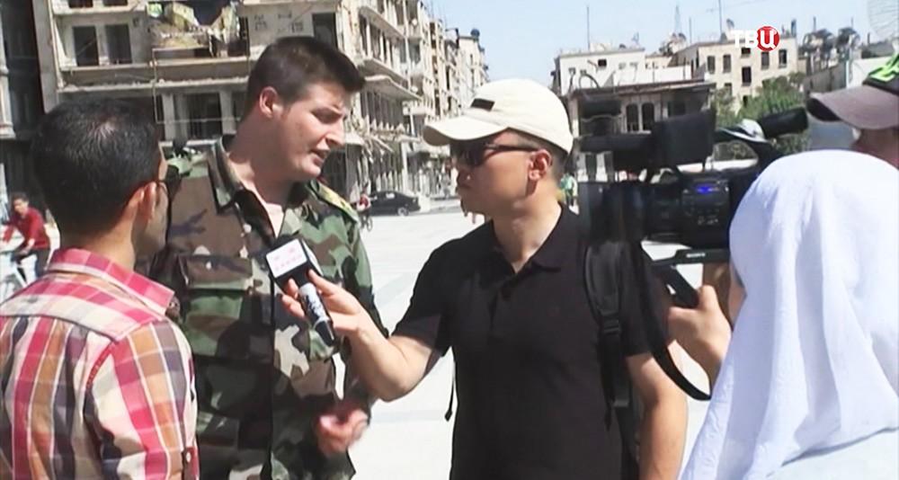 Иностранные журналисты в Алеппо, Сирия