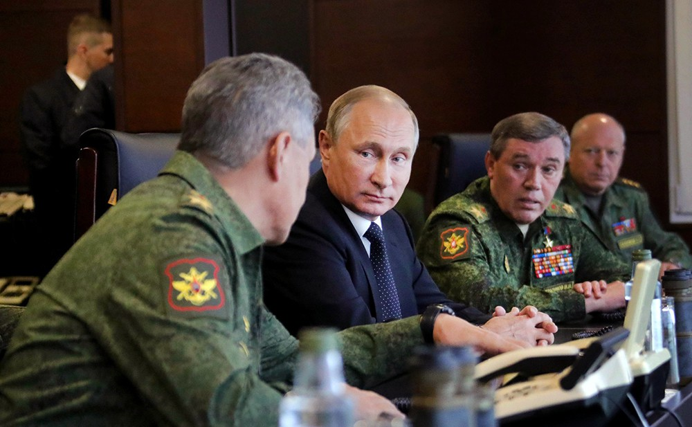 Владимир Путин, Сергей Шойгу и Валерий Герасимов