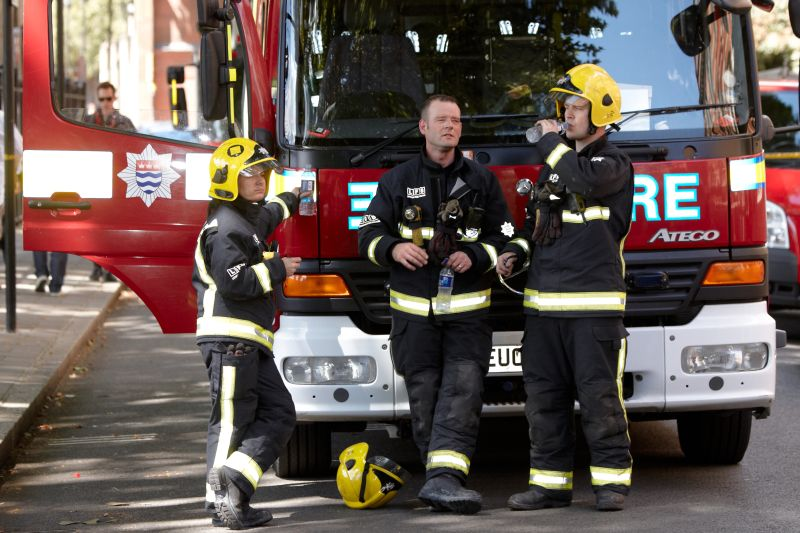 Британские пожарные