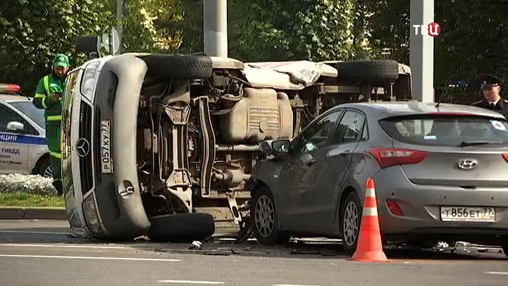 Последствия ДТП с участием машины скорой помощи