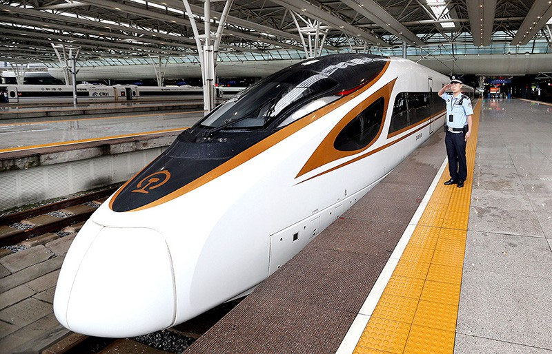 Скоростной поезд в Китае