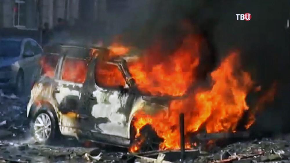 Пожар в гостинице в Ростове-на-Дону