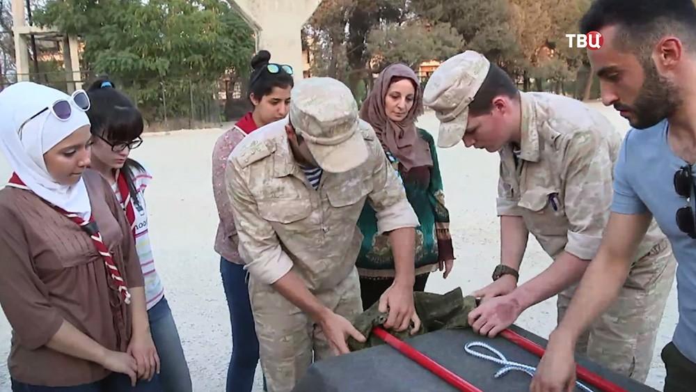 Мастер-класс для сирийских скаутов