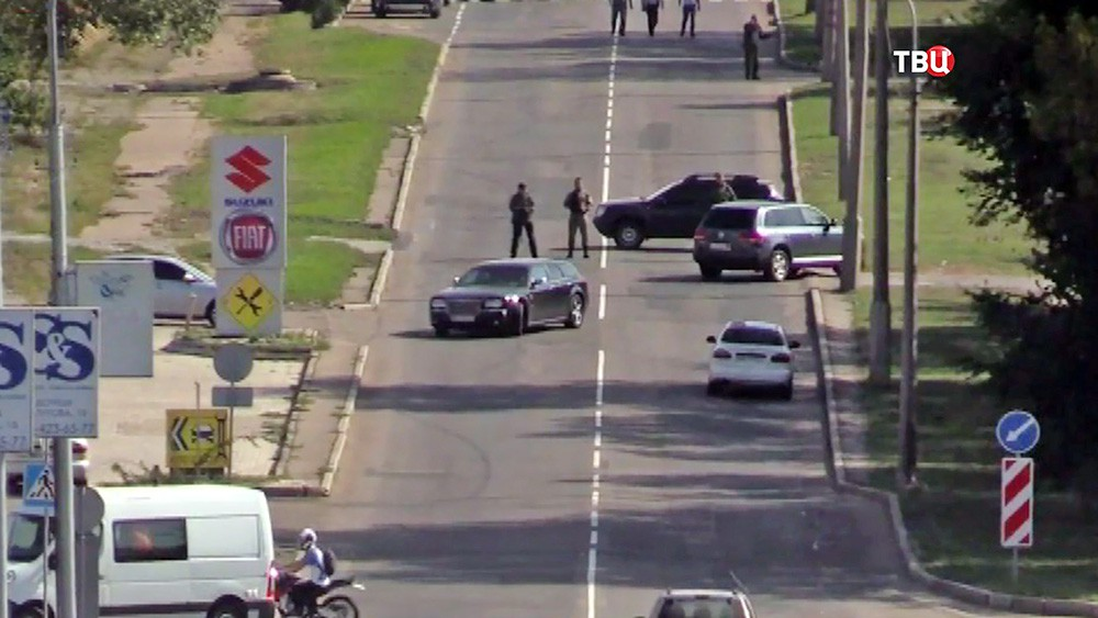 Полиция ДНР на месте происшествия