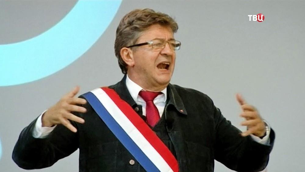 "Лидер партии ""Непокорившаяся Франция"" Жан-Люк Меланшон"